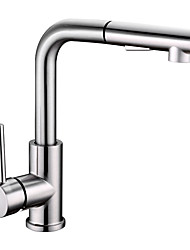 cheap -Kitchen faucet - Single Handle One Hole Nickel Brushed Pull-out / Pull-down / Tall / High Arc Other Contemporary Kitchen Taps
