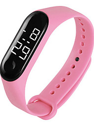 cheap -Women's Sport Watch Digital New Arrival Water Resistant / Waterproof Digital White Black Red / Silicone / Chronograph
