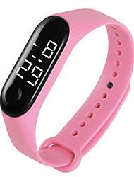 cheap -Women's Sport Watch Digital Digital Fashion Water Resistant / Waterproof Chronograph LED Light / Silicone