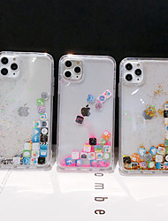 cheap -Case For Apple iPhone 11 / iPhone 11 Pro / iPhone 11 Pro Max Flowing Liquid Back Cover Glitter Shine TPU / PC