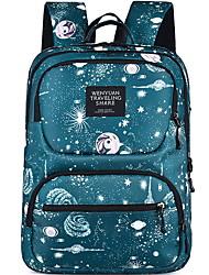 cheap -Large Capacity Polyester Zipper School Bag Daily Black / Green / Gray