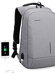 cheap -13.3 Inch Laptop / 15.6 Inch Laptop Commuter Backpacks Nylon Fiber Solid Colored for Men for Women for Business Office Shock Proof with USB Charging Port / Headphones Hole