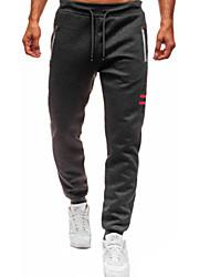 cheap -Men's Street chic Cotton Chinos Sweatpants Pants - Solid Colored Black Red Dark Gray US32 / UK32 / EU40 / US34 / UK34 / EU42 / US36 / UK36 / EU44 / Drawstring