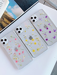 cheap -Case For Apple iPhone 11 / iPhone 11 Pro / iPhone 11 Pro Max Transparent / Pattern Back Cover Transparent / Flower TPU