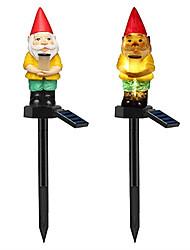 Недорогие -1 шт. Газон лампы рождественские светодиодные садовые фонари солнечные ночные огни санта-формы солнечные фонари газон прекрасный санта-клаус форма газон лампы