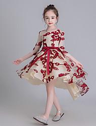 billige -Barn Jente Geometrisk Kjole Rød