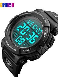 Недорогие -SKMEI Смарт Часы Цифровой Современный Спортивные силиконовый 30 m Защита от влаги Повседневные часы Cool Аналоговый На каждый день Мода - Черный Черный / Синий Черный / Золотистый