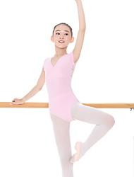 abordables -Tenues de Danse pour Enfants justaucorps Fille Entraînement Coton / Spandex Elastique Manches Courtes Taille moyenne Collant / Combinaison