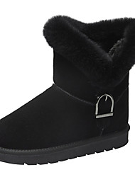 cheap -Women's Boots Snow Boots Flat Heel Round Toe Rabbit Fur / Suede Winter Black / Brown / Army Green