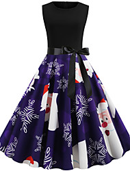 cheap -Audrey Hepburn Dress Women's Adults' Retro Vintage Christmas Christmas Polyester Dress
