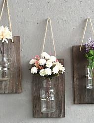 cheap -Novelty Wall Decor Wooden / Glass 3D Print Wall Art, Wall Hangings Decoration