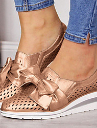 cheap -Women's Sneakers Wedge Heel Pointed Toe PU Sweet / Minimalism Spring &  Fall / Spring & Summer Silver / Blue / Pink