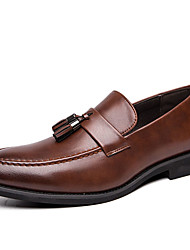 cheap -Men's Formal Shoes Synthetics Spring & Summer / Fall & Winter Casual / British Loafers & Slip-Ons Non-slipping Black / Brown