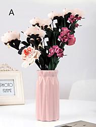 cheap -1pcs Vase European Style PE Plastic Vase Portable Household Dried Flower Arrangement Container