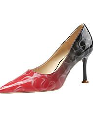 cheap -Women's Heels Stiletto Heel Pointed Toe Animal Print Satin Minimalism Spring & Summer Wine / Almond / Pink / Party & Evening
