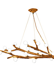 cheap -12 Bulbs ZHISHU 73 cm LED Chandelier Wood / Bamboo Acrylic Candle-style / Cluster / Sputnik Nature Inspired / Nordic Style 110-120V / 220-240V