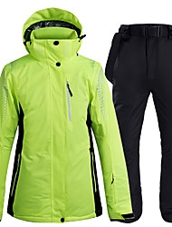 cheap -ARCTIC QUEEN Women's Ski Jacket with Pants Camping / Hiking Winter Sports Waterproof Windproof Warm Polyester Jacket Pants / Trousers Clothing Suit Ski Wear