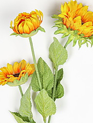 cheap -Artificial Sunflower Bouquet,3Flowers Per Bunch
