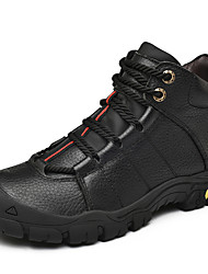 cheap -Men's Leather Shoes Nappa Leather Winter Sporty / Casual Athletic Shoes Warm Booties / Ankle Boots Black / Brown