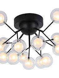 cheap -15-Light QIHengZhaoMing 50 cm Flush Mount Lights Metal Glass Modern 110-120V / 220-240V / G4