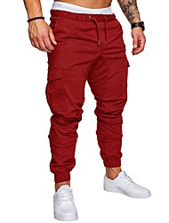 cheap -Men's Jogger Pants Joggers Running Pants Athletic Sweatpants Athleisure Wear Bottoms Beam Foot Drawstring Sport Fitness Gym Workout Thermal / Warm Anatomic Design Wearable Plus Size Dark Grey White