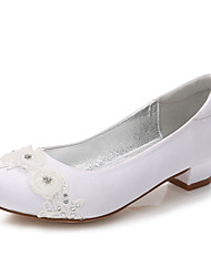 cheap -Girls' Mary Jane Satin Heels Little Kids(4-7ys) / Big Kids(7years +) Sparkling Glitter White / Ivory Spring / Party & Evening