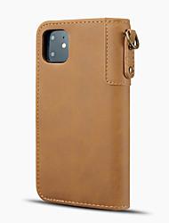 ieftine -Maska Pentru Apple iPhone 11 / iPhone 11 Pro / iPhone 11 Pro Max Titluar Card / Anti Șoc Carcasă Telefon Mată PU piele