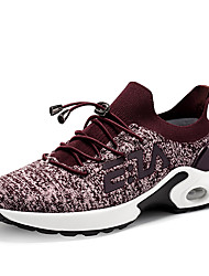cheap -Women's Athletic Shoes Flat Heel Round Toe Tissage Volant Sporty / Casual Running Shoes / Fitness & Cross Training Shoes Spring & Summer / Fall & Winter Black / Purple