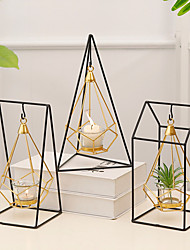 cheap -Simple Style / European Style Glasses / Iron Candle Holders Candelabra 1pc, Candle / Candle Holder