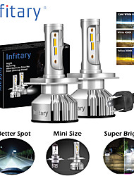 cheap -Infitary brand H1 H3 H7 H11 9005 9006 car headlights 1860 chip 8000LM 6500K 12V 48W car headlights
