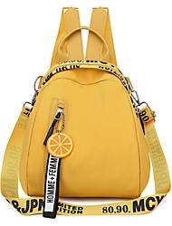 """Недорогие -Большая вместимость Ткань """"Оксфорд"""" Молнии рюкзак Сплошной цвет Повседневные Черный / Розовый / Желтый"""