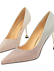 cheap -Women's Wedding Shoes Stiletto Heel Pointed Toe Sequin Synthetics Classic / Minimalism Spring & Summer Purple / Gold / Silver / Party & Evening / Color Block