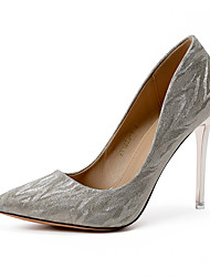 cheap -Women's Wedding Shoes Stiletto Heel Pointed Toe Satin Sweet / Minimalism Spring & Summer Gold / Silver / Party & Evening