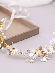 cheap -Alloy Headdress with Imitation Pearl 1 Piece Wedding / Special Occasion Headpiece