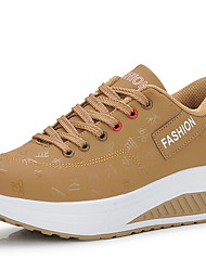 cheap -Unisex Athletic Shoes Flat Heel Round Toe Pigskin Running Shoes Fall & Winter Blue / Coffee / Khaki