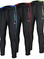 cheap -Arsuxeo Men's Cycling Pants Bike Pants Bottoms Windproof Anatomic Design Reflective Strips Sports Polyester Elastane Winter Yellow / Red / Blue Road Bike Cycling Clothing Apparel Relaxed Fit Bike Wear