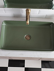 cheap -Bathroom Sink Contemporary - Glass Rectangular Vessel Sink