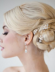 cheap -Alloy Headdress / Hair Stick with Rhinestone / Imitation Pearl 1 Piece Wedding / Special Occasion Headpiece