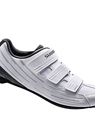 cheap -Road Bike Shoes Nylon, Fiberglass, Air-flow vents, Non-Slip tread Breathable Cushioning Ventilation Cycling / Bike Cycling Shoes White Cycling Shoes / Ultra Light (UL) / Breathable Mesh