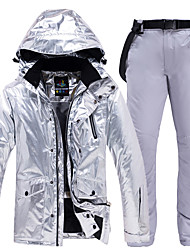 cheap -ARCTIC QUEEN Men's Women's Ski Jacket with Pants Camping / Hiking Winter Sports Waterproof Windproof Warm Polyester Jacket Pants / Trousers Clothing Suit Ski Wear