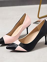 cheap -Women's Heels Stiletto Heel Pointed Toe Outdoor Office & Career PU Red Pink Beige / 2-3