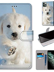 cheap -Case For Apple iPhone 11 / iPhone 11 Pro / iPhone 11 Pro Max Wallet / Card Holder / with Stand Full Body Cases Dog PU Leather / TPU