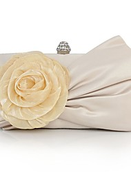 cheap -Women's Bow(s) / Flower Silk Evening Bag Solid Color Almond
