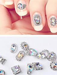 Недорогие -12 шт. Универсальные синтетические драгоценные камни для ногтей украшения для ногтей ноготь мода маникюр педикюр ежедневно / фестиваль основной