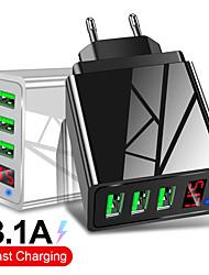 Недорогие -3 порта USB зарядное устройство ес разъем светодиодный дисплей 3.1a быстрая зарядка смарт-зарядное устройство для мобильного телефона для iphone samsung xiaomi tablet