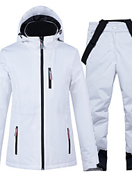 cheap -ARCTIC QUEEN Women's Ski Jacket with Pants Skiing Camping / Hiking Winter Sports Waterproof Windproof Warm Polyester Jacket Pants / Trousers Clothing Suit Ski Wear / Patchwork