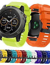 Недорогие -SmartWatch группа для Garmin D2 Браво / D2 Чарли / D2 Delta px / Fenix 5 спортивная группа мягкий удобный силиконовый ремешок Quickfit 26 мм