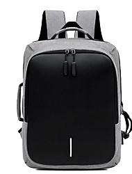رخيصةأون -سعة كبيرة أكسفورد سحاب حقيبة ظهر مناسب للبس اليومي أسود / رمادي