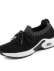 cheap -Women's Athletic Shoes Flat Heel Round Toe Tissage Volant Sporty / Preppy Running Shoes / Fitness & Cross Training Shoes Spring & Summer / Fall & Winter Black / Wine / White