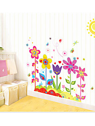 cheap -AY708 romantic colorful sun flower home children's room kindergarten bedroom background decoration removable stickers